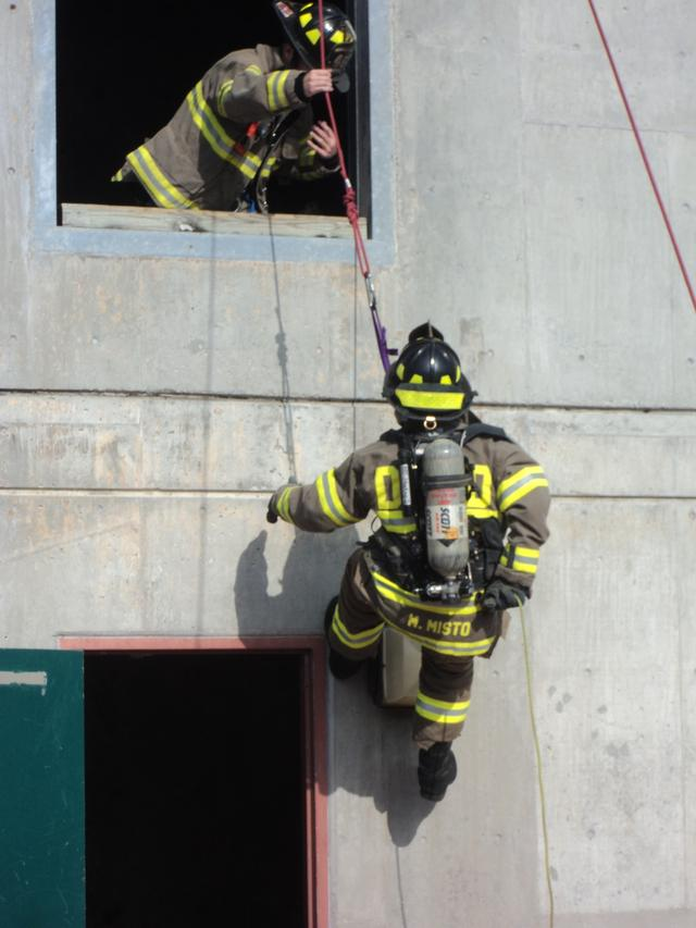 Dcfd Firefighters Train On Self Rescue Bailout Techniques