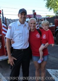 First fire parade for the DeGrave Family.