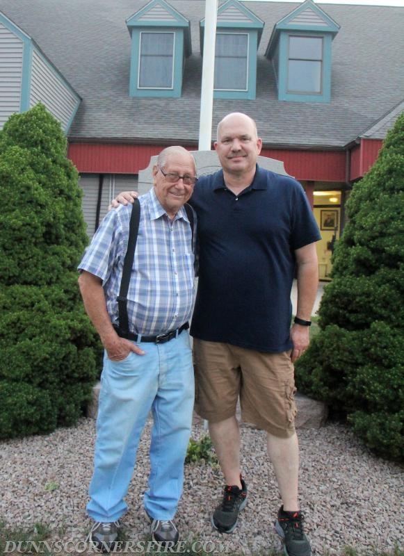 Former Assistant Chief June Champlin and Captain Dan Schilke - Lifelong Dunn's Corners Boys.